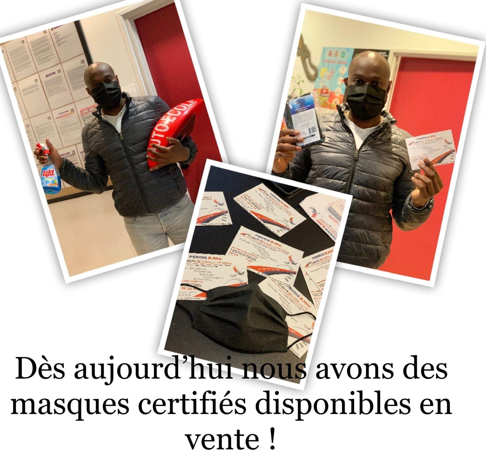 L'agence Cer Evolution s'équipe et propose à la vente des masques certifiés